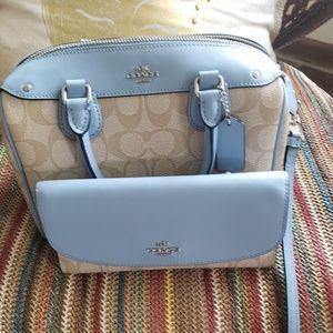 Coach mini bennett and matching wallet